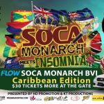 7 to rep for the BVI in Flow Soca Monarch 2016